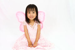 Chinese little girl wearing butterfly custome Royalty Free Stock Photography