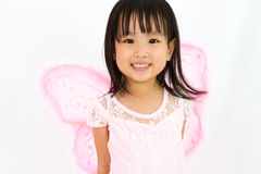 Chinese little girl wearing butterfly custome Stock Image