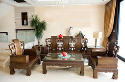 Chinese living room stock photography