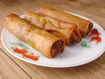 Crispy Chinese Egg Rolls Royalty Free Stock Images