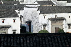 Chinese local style dwelling houses. A peaceful village in East China. The dwelling houses were built according to chinese local styles Royalty Free Stock Photo
