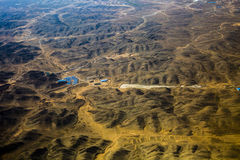 Chinese loess plateau Stock Image