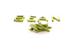 Chinese long beans on white Stock Photography