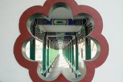 Chinese long corridor Royalty Free Stock Photo