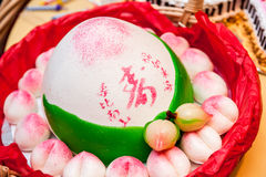Free Chinese Longevity Buns For Celebrations. Text Means Longevity. Royalty Free Stock Photos - 69920498