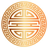 Chinese Longevity Symbol with Border vector Illustration Royalty Free Stock Photos