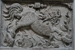 Chinese  loong stone carving Stock Photography