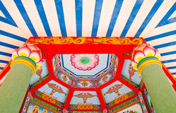 Chinese lotus ceiling. China beautiful lotus motifs that come with the ceiling of the chapel Stock Photography