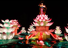 Chinese Lotus lantern Show Royalty Free Stock Photo