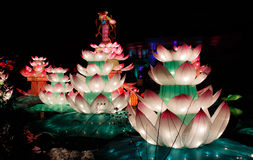 Chinese Lotus lantern Show Stock Images