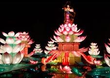 Chinese-Lotus-Laterne Show lizenzfreies stockfoto