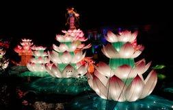 Chinese-Lotus-Laterne Show stockbilder