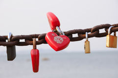 Chinese Love Locks Stock Photo