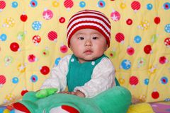 Chinese lovely baby. Climb  cute Stock Photos