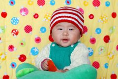 Chinese lovely baby Stock Photos