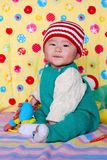 Chinese lovely baby. Climb  cute Stock Photography
