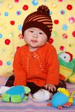 Chinese lovely baby. Climb  cute Royalty Free Stock Photos