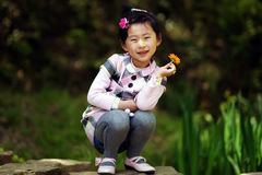 Chinese lovely girl Stock Photos