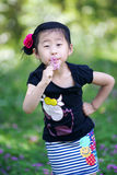 Chinese lovely girl. Chinese lovely pretty cute girl in the park Royalty Free Stock Photos