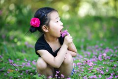 Chinese lovely girl Stock Images