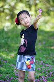 Chinese lovely girl. Chinese lovely pretty cute girl in the park Stock Photos