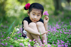 Chinese lovely girl Stock Photography