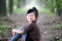 Chinese lovely girl. Chinese lovely pretty cute girl in the park Royalty Free Stock Image