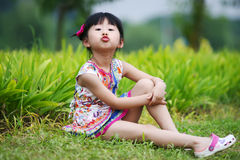 Chinese lovely girl. Chinese lovely pretty cute girl in the park Royalty Free Stock Photography