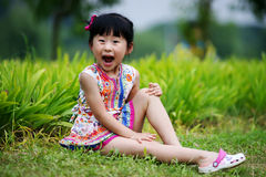 Chinese lovely girl. Chinese lovely pretty cute girl in the park Stock Image