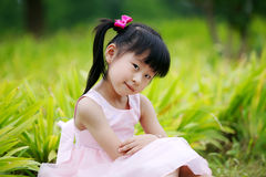 Chinese Lovely Girl Stock Photo