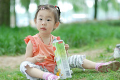 Chinese lovely little girl Stock Photography