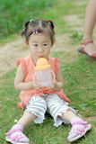 Chinese lovely little girl Stock Photos