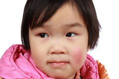 Chinese lovely little girl face Royalty Free Stock Photo