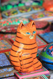 Chinese lucky cat idol Stock Photography