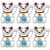 Chinese lucky cat Stock Photos