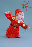 Chinese lucky clay figurine - Rich(char) Royalty Free Stock Image