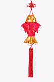 Chinese lucky knot. On behalf of auspicious Stock Images