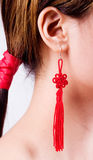 Chinese lucky knot. On behalf of auspicious Royalty Free Stock Photo