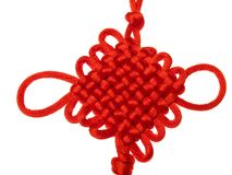 Chinese lucky knot. On behalf of auspicious Stock Photography