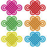 Chinese lucky knot illustration set Stock Photo
