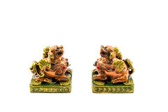 Chinese lucky lions Stock Photos