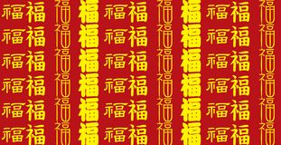 Chinese Lucky Message pattern Royalty Free Stock Images