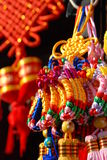 Chinese lunar new year decorations hanging for sale Royalty Free Stock Photos