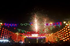CHINESE LUNAR NEW YEAR FIREWORKS Royalty Free Stock Images