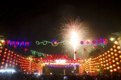 CHINESE LUNAR NEW YEAR FIREWORKS Stock Photos
