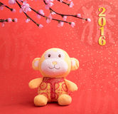 Chinese lunar new year ornaments toy of monkey Royalty Free Stock Photo