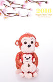 Chinese lunar new year ornaments toy of monkey Royalty Free Stock Images