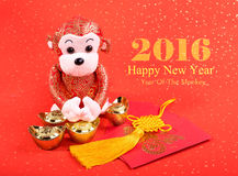 Chinese lunar new year ornaments toy of monkey Stock Photography