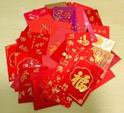 Chinese New Year Red Packets. Chinese Lunar New Year Red Packets Laisee Royalty Free Stock Images