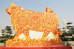 Chinese lunar year of bull Stock Images
